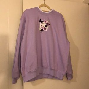 Purple vintage oversized fleece sweatshirt
